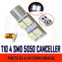 Placa T10 4smd 5050 Canbus Canceller Super Branca - Unid.