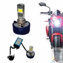 Xenon Para Moto Lampada De Led H4 5000k Super Branca