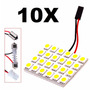 Kit 10x Placas Ultra Led = A 72 Leds! 31~42mm Carro Moto 12v