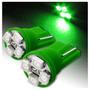 Lâmpada Pingo T10 W5w Com 04 Led Verde (smd) 12v * Tubahia