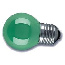 Lâmpada Bolinha De Luz Led E27 Verde 1w Sorocaba-sp