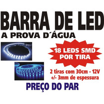 Barra Fita Tira Strip Led Smd - 30cm Branco - O Par