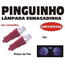 Lampada Esmagadinha Pinguinho De Led 12v - O Par - Vermelho