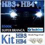 Kit Lampada Super Branca 2 Hb4+2 Hb3 New Civic 07/11