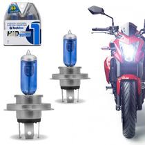 Par Lampada H4 8500k 35w Super Branca Tipo Xenon Moto