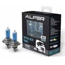 Lampada Super Branca Alper H4 4200k 24v 75/70w Caminhão