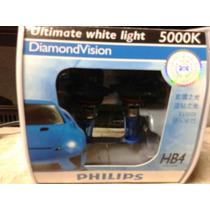 Par Lâmpada Hb4 Philips 5000k Diamond Vision