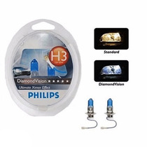 Kit Lampada Philips Diamond Vision H3 Efeito Xenon 5000k