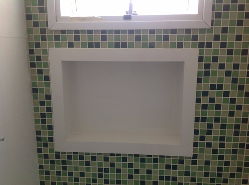 Nicho De Porcelanato Para Banheiro  R$ 230,00 no MercadoLivre -> Nicho Banheiro Porcelanato