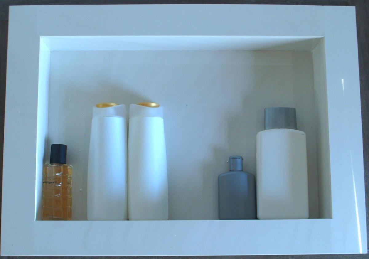 Nicho Para Banheiro Em Porcelanato  R$ 190,00 no MercadoLivre -> Fazer Nicho Banheiro