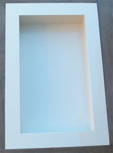 Nicho Para Banheiro Em Porcelanato  Branco Diamante  R$ 215,00 no MercadoLivre -> Nicho Banheiro Mercadolivre