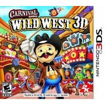 Jogo Do 3ds Carnival Games Wild West 3d Novo Lacrado