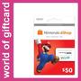 Cartão Nintendo Eshop 3ds/wii U $50 Estados Unidos Por Email