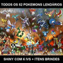 Pokemon X Y Todos Os 52 Lendários Com Mega Stones De Brinde