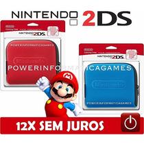 Case Bolsa Capa Original Para Nintendo 2ds Porta Cartucho