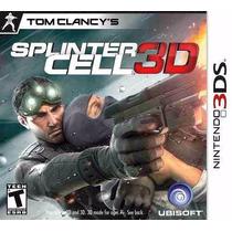 Manual De Instruções Splinter Cell 3d Original Seminovo