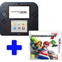 Nintendo 2ds Portugues + Jogo Mario Kart 7 Bundle Original