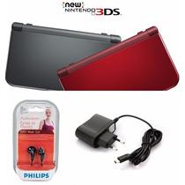 New Nintendo 3ds Xl + Carregador E Fone Philips12x Sem Juros