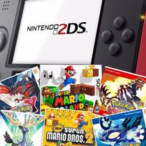 2ds Com 12 Jogos Originais Pokemon X Y Sapphire Ruby E Mario
