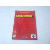 Nintendo 64 - Mission Impossible (somente O Manual) Novinho