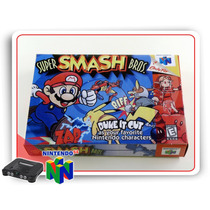 N64 Caixa Super Smash Broscom Berço Nintendo 64