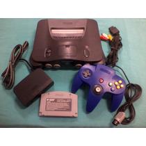 Belo Nintendo 64 Completo Com Controle Novo!
