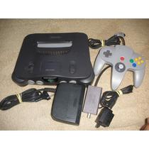 Nintendo 64 Completo Com 1 Jogo