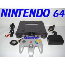 (( Nintendo 64 )) Com 1 Controle + Fonte + Cabo A/v