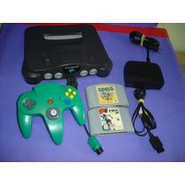 Nintendo 64 Com 1 Controle Original , Cabo Av E 2 Fitas