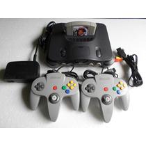 Nintendo 64 Com 2 Controles + 1 Fita 007 Goldeneye Original