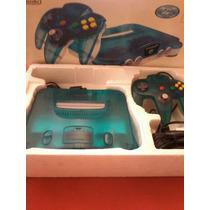 Nintendo 64 Japonês Azul Anis Super Novo +2 Jogos...