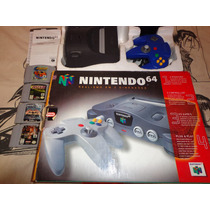 Nintendo 64+4fitas+cx+isopr+fonte+1controle+av.pio-agni Game
