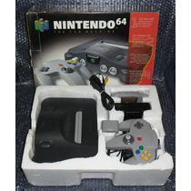 Nintendo 64 Americano Cx+isopor+controle+fonte+av+jogo
