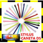 Kit 6 Canetas Stylus Touch Screen Ds Lite Dsi - Cor Rosa