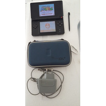 Nintendo Ds Lite Preto Zerado + Jogo Do Super Mario + Case