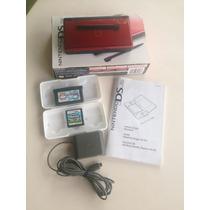 Nintendo Ds Lite + 2 Jogos Originais + 1 Porta Jogos