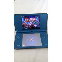 Nintendo Dsi Xl Desbloqueado C/ Jogos + Cartão R4i3d
