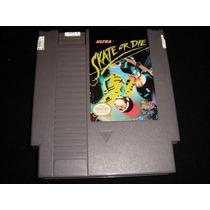 Ráro Skate Or Die Original Americano Nintendo Nes 72 Pinos