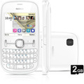 Celular Nokia Asha 201 Branco Vivo 2mp Redes Sociais Qwerty