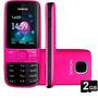 Celular Desbloqueado Nokia 2690 Preto/rosa C/ Câm,fm