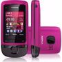 Celular Desbloq Nokia C2-05 Rosa C/ Câm,fm,mp3