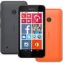 Nokia Lumia 530 Dual Preto 5mp Tela 4 C/ Capa Laranja Novo