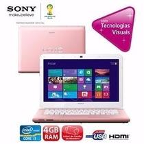 Notebook Sony Vaio Sve14123cbp Com Intel® Core I3
