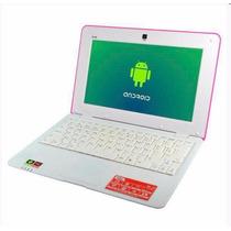 Mini Notebook Tela 10 Android 4.1 Hdmi Cam 8gb +brinde Rosa