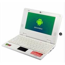 Mini Notebook 7 Polegadas Android 4 Hdmi 3g + Brinde Branco