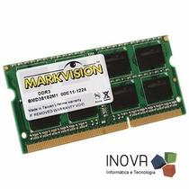 Memória Notebook 8gb Ddr3 1333 Mhz Markvision - Nova