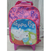 Mochila Pequena/ Bolsa De Rodinhas Da Peppa Pig Ou Minions