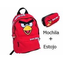 Mochila Angry Birds G Vermelha Juvenil E Estojo De Lápis