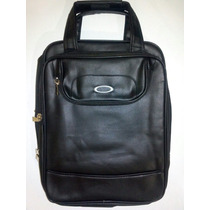 Mochila Executiva Masculina Oakley Bag Couro - Marrom/preta