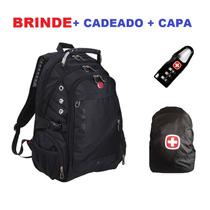 Mochila Swissgear Notebook + Cadeado + Capa Frete Gratis
